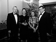 18/01/1989<br /> 01/18/1989<br /> 18 January 1989<br /> Texaco Sportstars of the Year Awards 1988 at the Burlington Hotel, Dublin. At the event were Mr. Vincent O'Brien, Managing Director Texaco; Mrs Sheila O'Brien; Mrs Burke and Mr. Ray Burke T.D., Minister for Industry and Commerce.