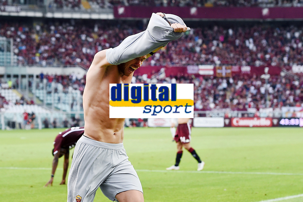 esultanza gol Edin Dzeko 0-1 Goal celebration <br /> Torino 19-08-2018 Stadio Olimpico Grande Torino <br /> Football Calcio Serie A 2018/2019 Torino - Roma Foto Daniele Buffa / Image Sport / Insidefoto