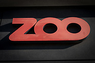 A close-up of the logo for the Zoo building in Copenhagen.