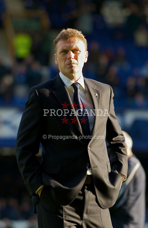 LIVERPOOL, ENGLAND - Sunday, November 16, 2008: Everton's manager David Moyes before the Premiership match against Middlesbrough at Goodison Park. (Photo by David Rawcliffe/Propaganda)
