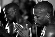 Floyd Mayweather prepares for his fight with Oscar De La Hoya at the Floyd Mayweather gym in Las Vegas. 1st May 2007.
