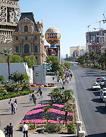 Las Vegas Boulevard, Las Vegas, Nevada. Also known as The Las Vegas Strip where many of the famous themed casinos and hotels are located.
