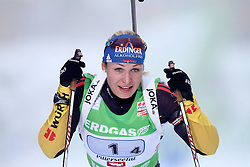 11.12.2011, Biathlonzentrum, Hochfilzen, AUT, E.ON IBU Weltcup, 2. Biathlon, Hochfilzen, Staffel Damen, im Bild Neuner Magdalena (Team GER) im zeil // during Team Relay E.ON IBU World Cup 2th Biathlon, Hochfilzen, Austria on 2011/12/11. EXPA Pictures © 2011. EXPA Pictures © 2011, PhotoCredit: EXPA/ nph/ Straubmeier..***** ATTENTION - OUT OF GER, CRO *****