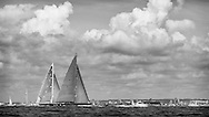 ENGLAND, Isle of Wight. 21st June 2012. J Class Solent Regatta. Hundred Guinea Cup. Lionheart, H1 (foreground) and Velsheda, K7