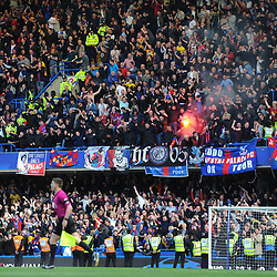 Crystal Palace fans after the final whistle following winning Chelsea vs Crystal Palace, Premier League , 01.04.17 (c) Harriet Lander | SportPix.org.uk