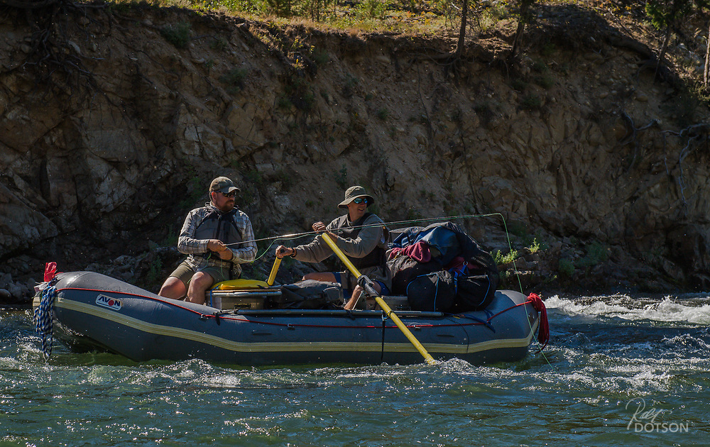 The Middle Fork of the Salmon has ample anglers trying out not only new flies but their oarsmanship in some challenging class IV and V water depending on the time of year.