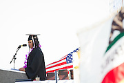 Call Hills Class of 2012 senior Shian Dilworth discusses her plans to become a military nurse during graduation on June 15, 2012.  Photo by Stan Olszewski/SOSKIphoto.