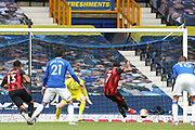 Goal - Bournemouth forward Joshua King (7) scores from the penalty spot 0-1 during the Premier League match between Everton and Bournemouth at Goodison Park, Liverpool, England on 26 July 2020.
