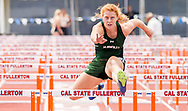 Big West Championships Track and Field women's 100 meters hurdles event - Cal State Fullerton, Fullerton, CA. Friday May 5, 2017.<br /> Photo by Samuel Navarro / Sports Shooter Academy
