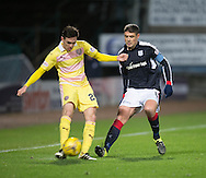 Hearts&rsquo; Liam Smith and Dundee&rsquo;s Darren O&rsquo;Dea - Dundee v Hearts in the Ladbrokes Scottish Premiership at Dens Park, Dundee. Photo: David Young<br /> <br />  - &copy; David Young - www.davidyoungphoto.co.uk - email: davidyoungphoto@gmail.com
