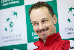 Radoslaw Szymanik of Poland at press conference during the Day 1 of Davis Cup 2018 Europe/Africa zone Group II between Slovenia and Poland, on February 3, 2018 in Arena Lukna, Maribor, Slovenia. Photo by Vid Ponikvar / Sportida