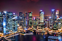 Singapore Skyline over Marina Bay