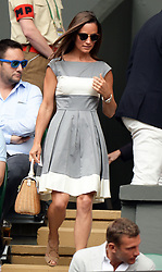 Image licensed to i-Images Picture Agency. 06/07/2014. London, United Kingdom. Pippa Middleton arriving to take her seat  at the Wimbledon Men's Final.  Picture by Andrew Parsons / i-Images