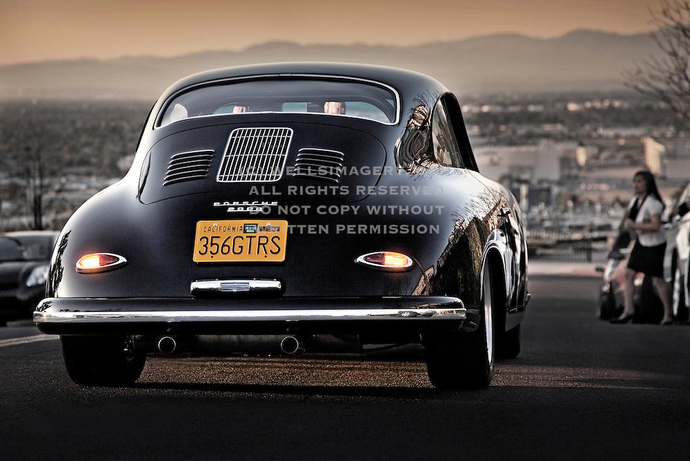Image of a 1958 Porsche 356 Custom GT automobile in Los Angeles, California, American west coast