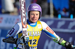 15.01.2012, Pista Olympia delle Tofane, Cortina, ITA, FIS Weltcup Ski Alpin, Damen, Super G, im Bild Tina Maze (SLO, Rang 3) // third place Tina Maze of Slovenia during superG race of FIS Ski Alpine World Cup at 'Pista Olympia delle Tofane' course in Cortina, Italy on 2012/01/15. EXPA Pictures © 2012, PhotoCredit: EXPA/ Erich Spiess
