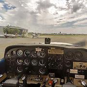 USA/Miami/20150808 - Rondvlucht boven Miami, cockpit chessna