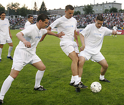 """The last game of Slovenian """"golden team"""" at Bezigrad stadion for football made by Joze Plecnik in year 1935, before rebuilded in 2008. The match was held on June 18, 2005.  (Photo by Vid Ponikvar / Sportal Images)"""