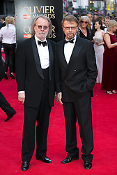 The Laurence Olivier Awards - Red Carpet Arrivals. Benny Andersson and Bjorn Ulvaeus attends The Laurence Olivier Awards at the Royal Opera House, London, United Kingdom. Sunday, 13th April 2014. Picture by Daniel Leal-Olivas / i-Images