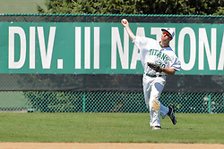 17 April 2016:  John Bosco during an NCAA division 3 College Conference of Illinois and Wisconsin (CCIW) Pay in Baseball game during the Conference Championship series between the North Central Cardinals and the Illinois Wesleyan Titans at Jack Horenberger Stadium, Bloomington IL
