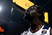 NIKON D5 • AF-S Nikkor 70-200mm f/2.8E FL ED VR<br /> f/3.5 • ISO 2000 • 1/1250<br /> <br /> BrownJohn Esultanza <br /> Happy Casa Brindisi - Pompea Fortitudo Bologna <br /> LBA Final Eight 2020 Zurich Connect - Semifinale<br /> Basket Serie A LBA 2019/2020<br /> Pesaro, Italia - 15 February 2020<br /> Foto Mattia Ozbot / CiamilloCastoria