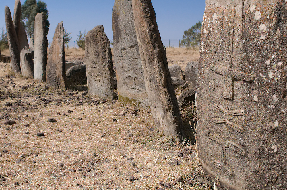 The old gravestones or monoliths of Tiya, world heritage,Ethiopia,Africa