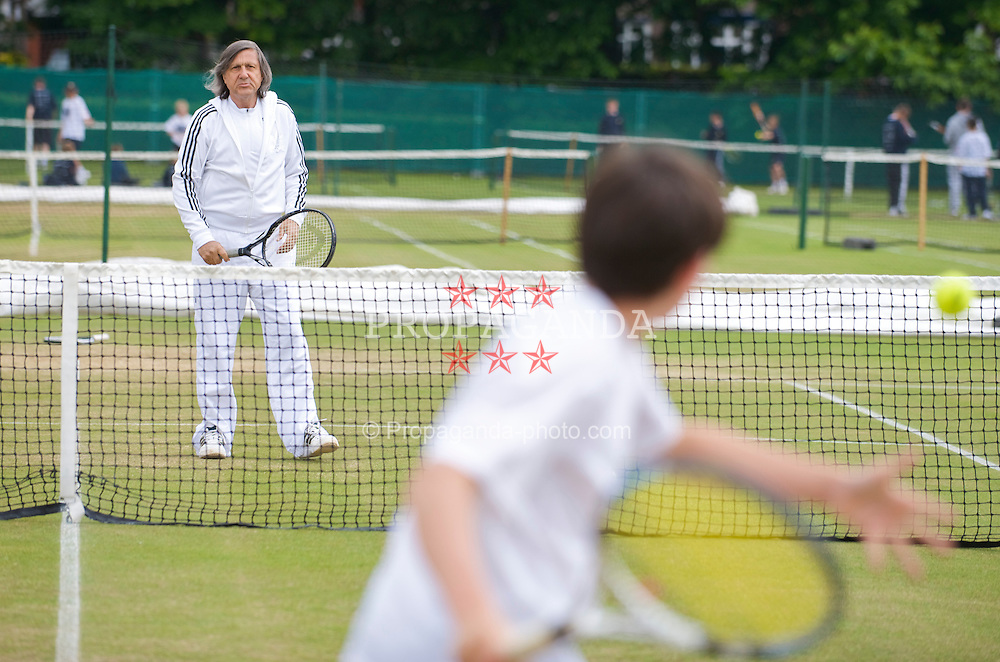 LIVERPOOL, ENGLAND - Sunday, June 21, 2009: Ilie Nastase (ROU) pro-Am during Day Five of the Tradition ICAP Liverpool International Tennis Tournament 2009 at Calderstones Park. (Pic by David Rawcliffe/Propaganda)