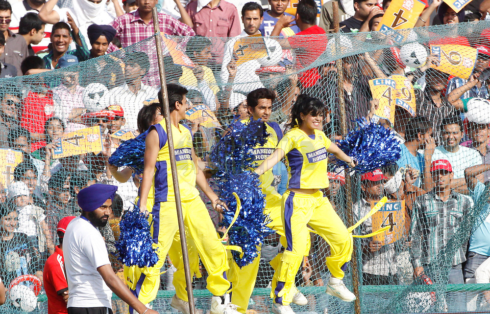 Chennai Super King Cheerleaders during match 9 of the Indian Premier League ( IPL ) Season 4 between the Kings XI Punjab and the Chennai Super Kings held at the PCA stadium in Mohali, Chandigarh, India on the 13th April 2011..Photo by Pankaj Nangia/BCCI/SPORTZPICS