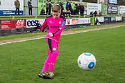 Mascot showing his skills during the Vanarama National League match between Forest Green Rovers and Wrexham FC at the New Lawn, Forest Green, United Kingdom on 18 March 2017. Photo by Shane Healey.