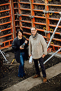 Jim German and Ali Mayfield standing in the future home of their new restaurant and winery Passotempo and The Walls Vineyard in Walla Walla