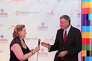New York City mayor Bill de Blasio makes a surprise appearance at the Equitas Health RED Table Design Gala at the Masonic Center in Dayton, Saturday, October 15, 2016.  In town for another event, Mayor de Blasio was called Dayton mayor Nan Whaley at the gala, who invited him to stop by.