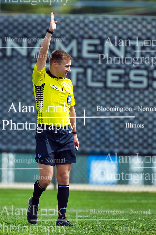 NORMAL, IL - August 10:  Andrew Zuckermann during a nonconference exhibition women's soccer match between the Southern Illinois Edwardsville Cougars and the Illinois State Redbirds August 10 2019 on Adelaide Street Field in Normal IL (Photo by Alan Look)