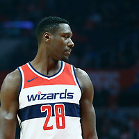 09 December 2017: Washington Wizards center Ian Mahinmi (28) is seen during the LA Clippers 113-112 victory over the Washington Wizards, at the Staples Center, Los Angeles, California, USA.