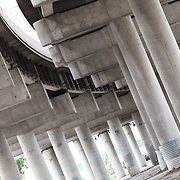 Underneath I-670 in the West Bottoms industrial area of Kansas City, MO.