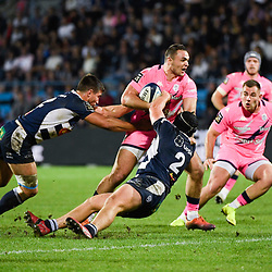 Julien DELBOUIS of Stade Francais during the Top 14 match between Agen and Stade Francais on October 19, 2019 in Agen, France. (Photo by Julien Crosnier/Icon Sport) - Julien DELBOUIS - Stade Armandie - Agen (France)
