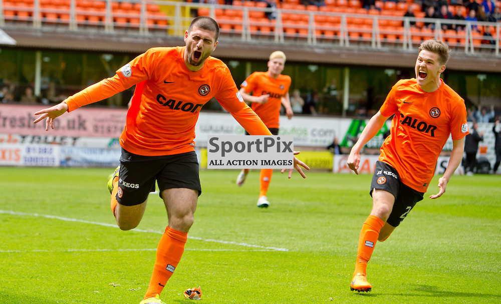 Dundee Utd v Dundee SPFL Premiership Tannadice Park 24 May 2015 <br /> Nadir Cifti opens the scoring<br /> CRAIG BROWN | sportPix.org.uk