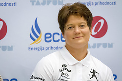 Martina Ratej, slovenian record holder in javelin, at press conference before start of season in Celje on May 13th 2015. Photo by: Peter Kastelic / Sportida