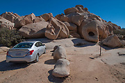 Car Camping at Hidden Valley Campground, Joshua Tree National Park, California