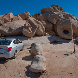 Car Camping at Hidden Valley Campground, Joshua Tree National Park, California