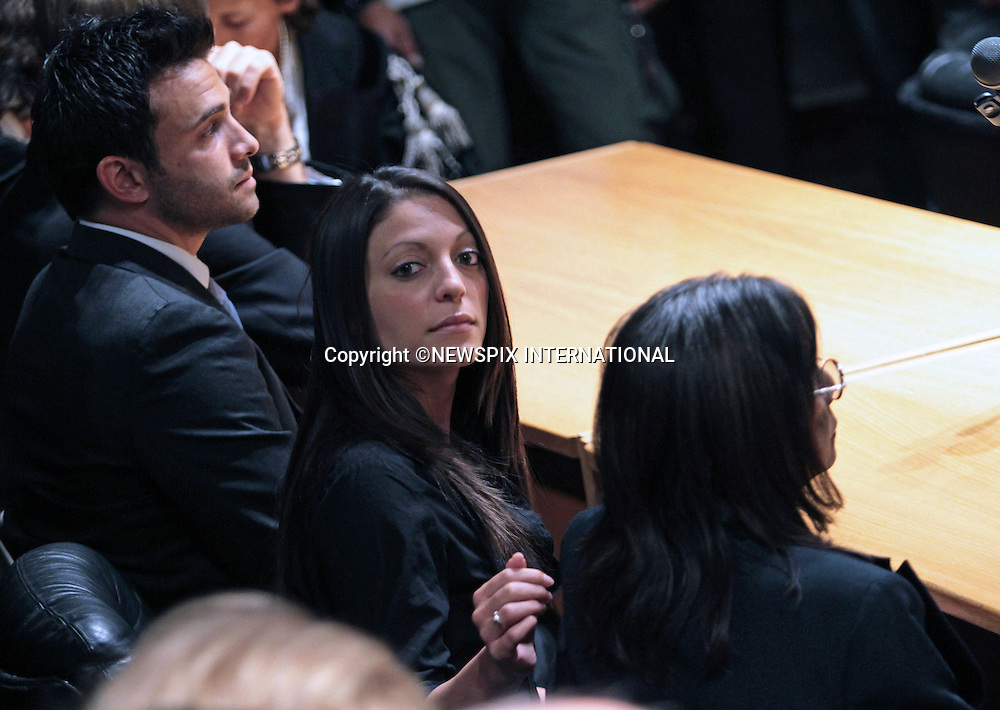 "STEPHANIE KERCHER WITH BROTHER LYLE AND MOTHER ARLINE.after the appeal hearing that cleared Amanda Knoxand her former boyfriend Raffaele Sollecito, of involvement in the murder of 21-year-old London student Meredith Kercher on 1 November 2007..Amanda Knox together with her former boyfriend Raffaele Sollecito were charged with involvement in the murder of 21-year-old London student Meredith Kercher on 1 November 2007..The pair had been sentenced in 2009 to 26 years over their involvement in the murder of Miss Kercher, Perugia, Italy_03/10/2011.Mandatory Credit Photo: ©NEWSPIX INTERNATIONAL..**ALL FEES PAYABLE TO: ""NEWSPIX INTERNATIONAL""**..IMMEDIATE CONFIRMATION OF USAGE REQUIRED:.Newspix International, 31 Chinnery Hill, Bishop's Stortford, ENGLAND CM23 3PS.Tel:+441279 324672  ; Fax: +441279656877.Mobile:  07775681153.e-mail: info@newspixinternational.co.uk"