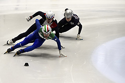 February 8, 2019 - Torino, Italia - Foto LaPresse/Nicolò Campo .8/02/2019 Torino (Italia) .Sport.ISU World Cup Short Track Torino - 1000 meter Men Preliminaries.Nella foto: Yuri Confortola..Photo LaPresse/Nicolò Campo .February 8, 2019 Turin (Italy) .Sport.ISU World Cup Short Track Turin - 1000 meter Men Preliminaries.In the picture: Yuri Confortola (Credit Image: © Nicolò Campo/Lapresse via ZUMA Press)