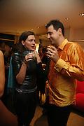 ELLIE THORNEYCROFT AND DAVID GRACHVOGEL, Maria Grachvogel 5th Anniversary of her  Sloane St store. 162 Sloane St. London. 19 October 2006. -DO NOT ARCHIVE-© Copyright Photograph by Dafydd Jones 66 Stockwell Park Rd. London SW9 0DA Tel 020 7733 0108 www.dafjones.com