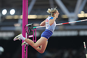 Holly Bradshaw , pole vault, during the IAAF World Championships at the London Stadium, London, England on 6 August 2017. Photo by Myriam Cawston.