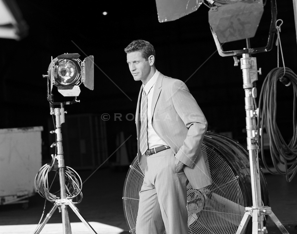 handsome all american man on a movie set