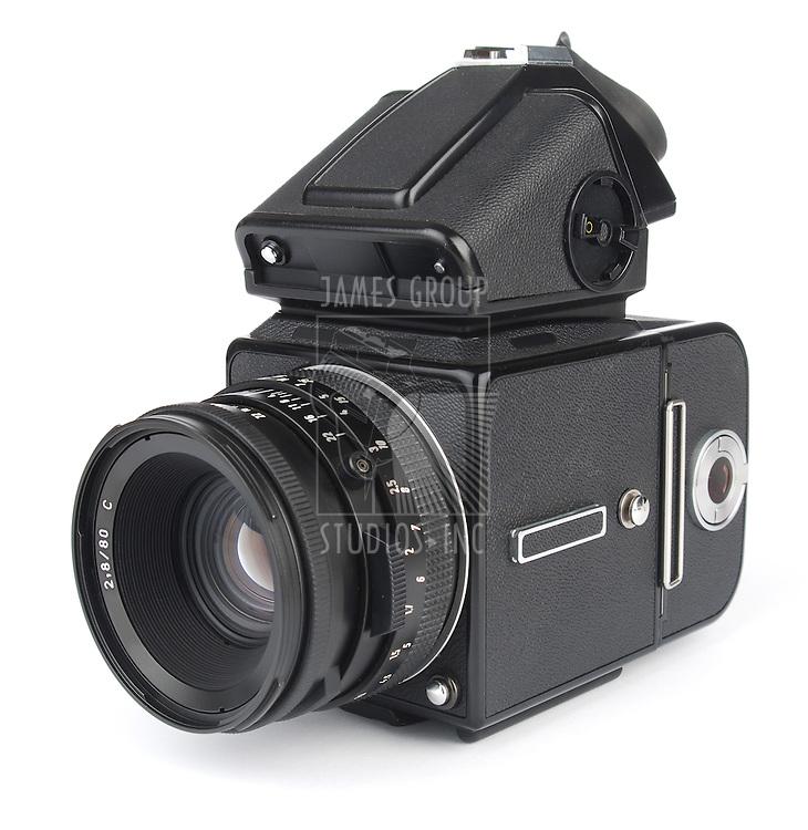 medium format camera shot from an isomorphic view