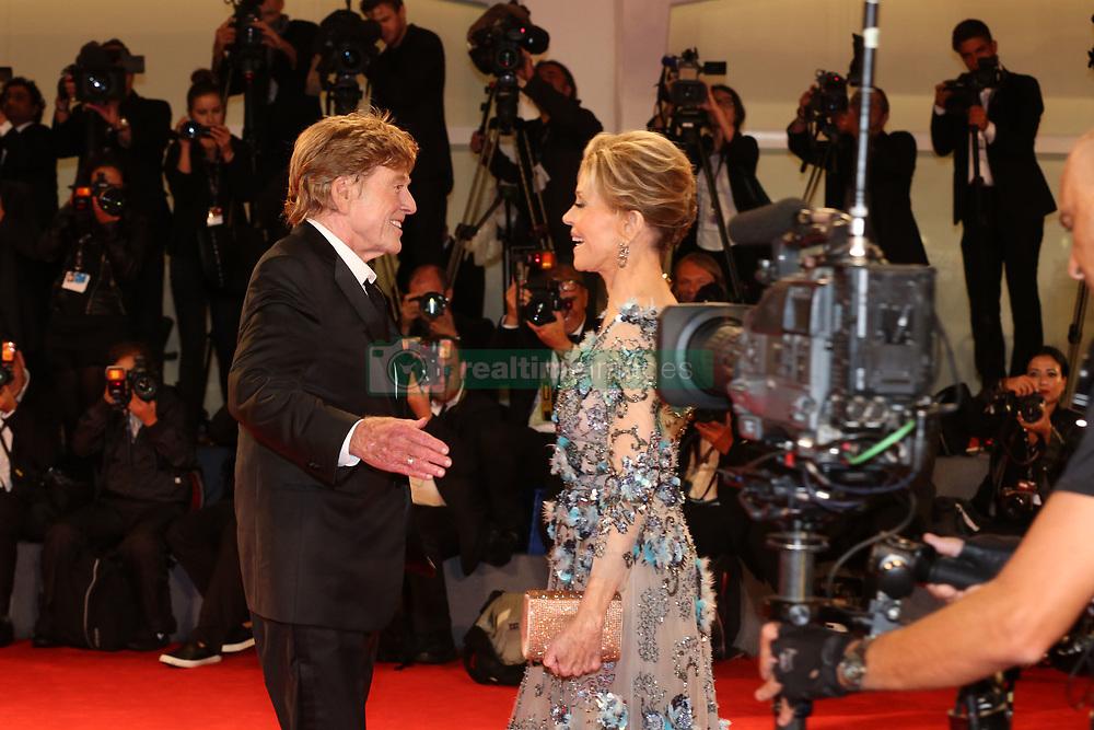 74 Mostra Venezia Film Festival Red carpet premio alla carriera a Jane Fonda, Robert Redford. 01 Sep 2017 Pictured: v. Photo credit: Fotogramma / MEGA TheMegaAgency.com +1 888 505 6342