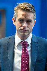 © Licensed to London News Pictures. 03/10/2018. Birmingham, UK. Gavin Williamson today ahead of Prime Minister Theresa May's speech on the final day of the Conservative Party Conference being held at the International Convention Centre in Birmingham. Photo credit: Andrew McCaren/LNP