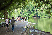 People Exercising In Central Park New York