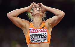 28-08-2015 CHN: IAAF World Championships Athletics day 7, Beijing<br /> Dafne Schippers (NED) winning at 200 m with World Championship  Record<br /> Photo by Ronald Hoogendoorn / Sportida