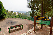 IDF Soldier's memorial at the Nesher Park, Carmel Mountain, Israel