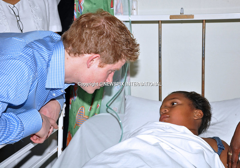 "PRINCE HARRY .meets young children when he visited The Queen Elizabethll Hospital in Bridgetown, Barbados_30/01/2010.Mandatory Credit Photo: ©Bgis-NEWSPIX INTERNATIONAL..**ALL FEES PAYABLE TO: ""NEWSPIX INTERNATIONAL""**..IMMEDIATE CONFIRMATION OF USAGE REQUIRED:.Newspix International, 31 Chinnery Hill, Bishop's Stortford, ENGLAND CM23 3PS.Tel:+441279 324672  ; Fax: +441279656877.Mobile:  07775681153.e-mail: info@newspixinternational.co.uk"